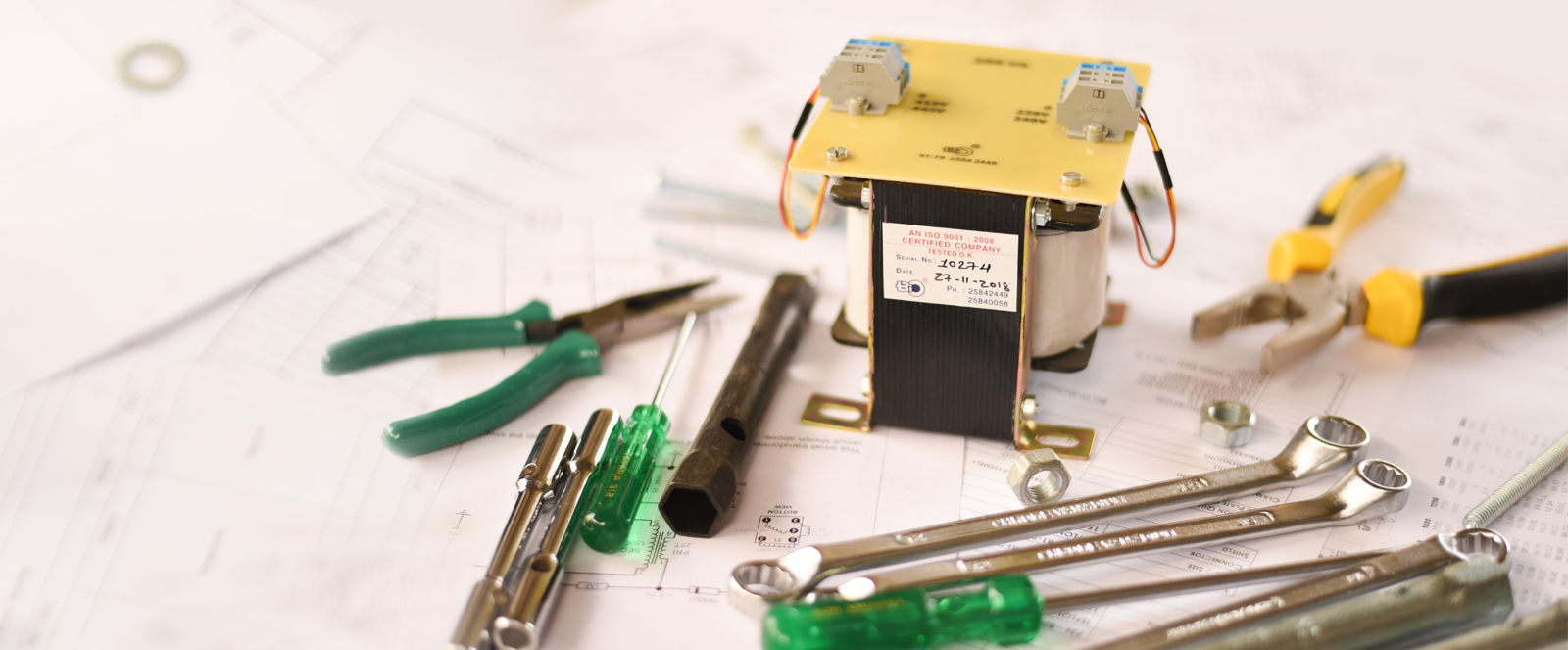 Tools used in transformers maufacturing